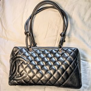 Chanel Quilted Cannon CC Bowling Shoulder Bag